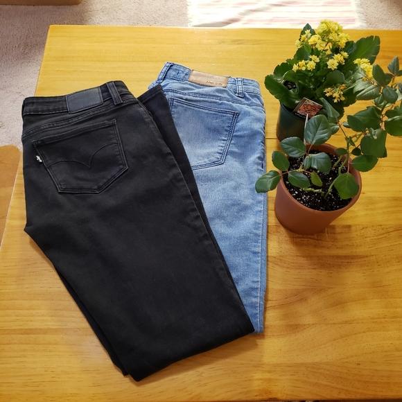 Levi's Denim - Bundle of 2 basic women jeans blue and black